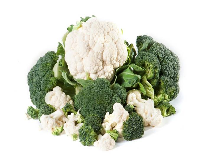 Fresh Broccoli and cauliflower